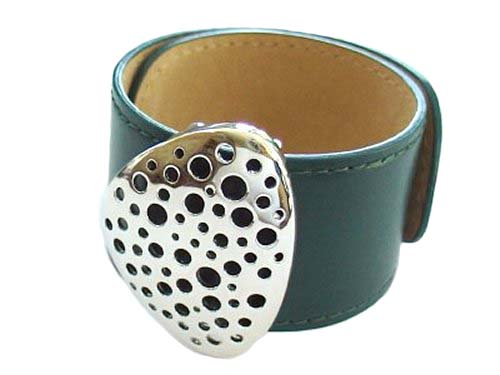 Sterling Silver leather bangle