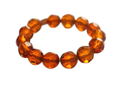 Baltic Amber Eternity ring in 18k gold