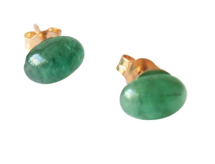 Emerald earrings in 14k gold
