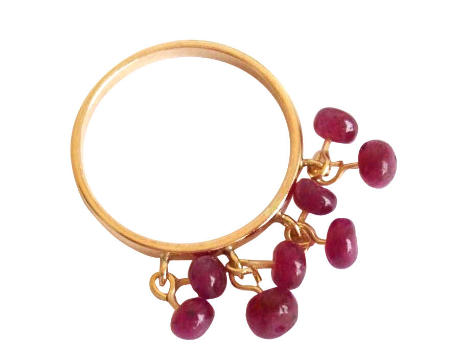 Roter Rubinring in 14k Gold