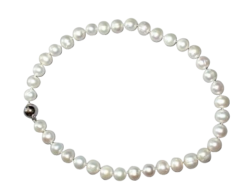 Australian pearl necklace in 18k white gold