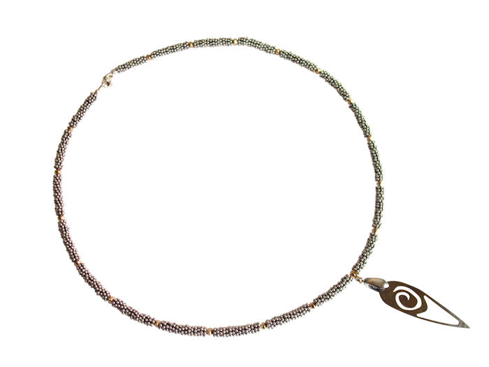 Necklace Contemporary Neolithic Comet in sterling silver