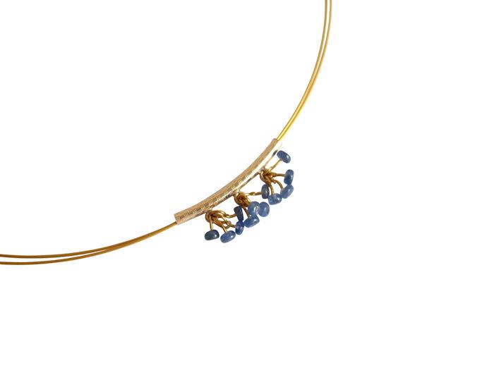Saphir Halskette in Gold